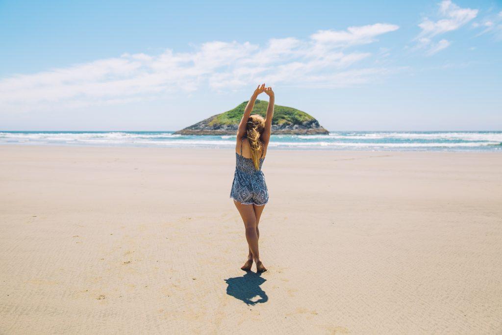 Garota na praia